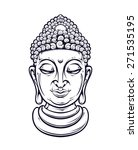 Vector Buddha Head Isolated On...