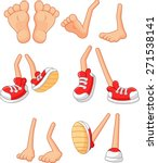 cartoon  walking feet  on stick ... | Shutterstock .eps vector #271538141