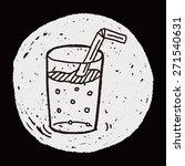 doodle beverages | Shutterstock . vector #271540631