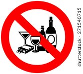 no alcohol and smoking sign ... | Shutterstock .eps vector #271540715