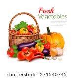 a basket full of fresh...   Shutterstock .eps vector #271540745