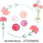 carnation for mother's day | Shutterstock .eps vector #271546835