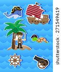 pirates cartoon for your design ... | Shutterstock .eps vector #271549619