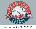 baseball champions league... | Shutterstock .eps vector #271555115
