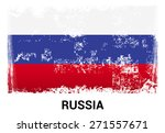 russia grunge flag isolated... | Shutterstock .eps vector #271557671