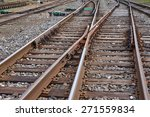 multiple railway track switches ... | Shutterstock . vector #271559834