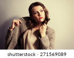 portrait of expressive young... | Shutterstock . vector #271569089