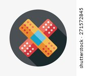 medical bandage flat icon with... | Shutterstock . vector #271572845