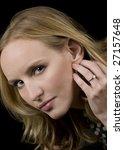 closeup of a beautiful blonde...   Shutterstock . vector #27157648