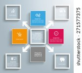 infographic design with squares ... | Shutterstock .eps vector #271577375