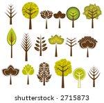 many vector trees on the white... | Shutterstock .eps vector #2715873