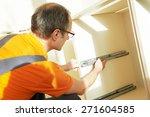 craftsman kitchen carpenter at... | Shutterstock . vector #271604585