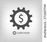 grey gearwheel with dollar sign ... | Shutterstock .eps vector #271607744
