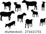vector image   sheep silhouette ... | Shutterstock .eps vector #271611731