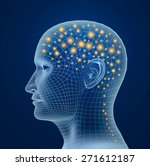 brain  and pulses. process of... | Shutterstock . vector #271612187