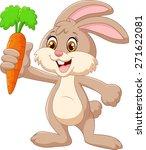 cartoon happy rabbit holding... | Shutterstock .eps vector #271622081