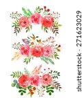 vector flowers set. colorful... | Shutterstock .eps vector #271623029