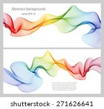 set of abstract banners colored ... | Shutterstock .eps vector #271626641