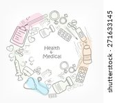 various medical elements for... | Shutterstock .eps vector #271633145