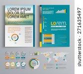 business brochure template... | Shutterstock .eps vector #271635497