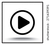 play button sign icon  vector... | Shutterstock .eps vector #271639391