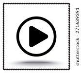 play button sign icon  vector... | Shutterstock .eps vector #271639391