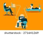 unsafe correspondence.... | Shutterstock .eps vector #271641269