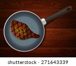 big cooked meat steak with... | Shutterstock .eps vector #271643339