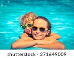 happy child and woman playing... | Shutterstock . vector #271649009