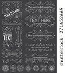 chalkboard vintage frames and... | Shutterstock .eps vector #271652669