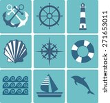 flat icons collection. marine... | Shutterstock .eps vector #271653011