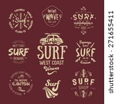 vector surf graphics  insignias ... | Shutterstock .eps vector #271655411
