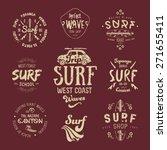 vector surf graphics  insignias ... | Shutterstock .eps vector #271655411
