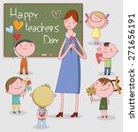 llustration of kids celebrating ... | Shutterstock .eps vector #271656191