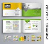 white brochure template design... | Shutterstock .eps vector #271656365
