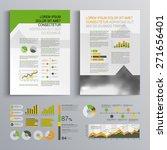 white brochure template design... | Shutterstock .eps vector #271656401