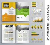 white brochure template design... | Shutterstock .eps vector #271656431