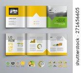 white brochure template design... | Shutterstock .eps vector #271656605