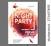 summer night party vector flyer ... | Shutterstock .eps vector #271657835