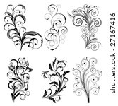 set from  black design elements ... | Shutterstock .eps vector #27167416