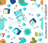 colorful baby boy seamless... | Shutterstock .eps vector #271680269