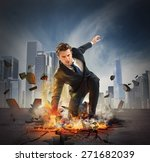 businessman determined breaks... | Shutterstock . vector #271682039