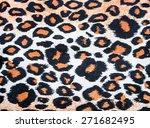 texture of tiger fabric   Shutterstock . vector #271682495