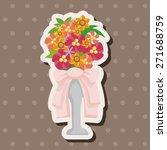 flower bouquet theme elements   Shutterstock .eps vector #271688759