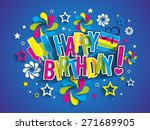 happy birthday greeting card on ... | Shutterstock .eps vector #271689905
