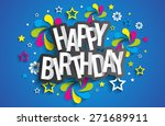happy birthday greeting card on ... | Shutterstock .eps vector #271689911