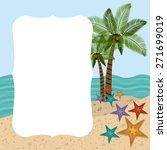 family travel desing over beach ... | Shutterstock .eps vector #271699019