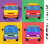set of colored minivan in the... | Shutterstock .eps vector #271699535
