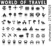 travel icons | Shutterstock .eps vector #271700525