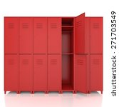 red empty lockers isolate on... | Shutterstock . vector #271703549